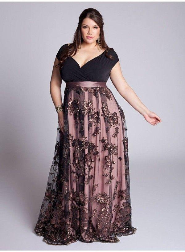 Vestido de fiesta de talla grande