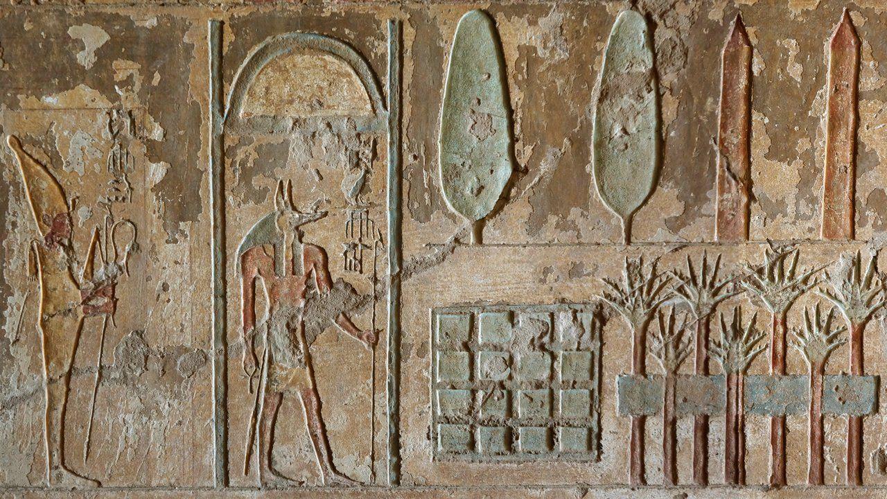 Imagen antigua de un jardin egipcio