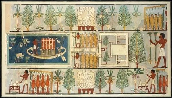 Jardín antiguo Egipto