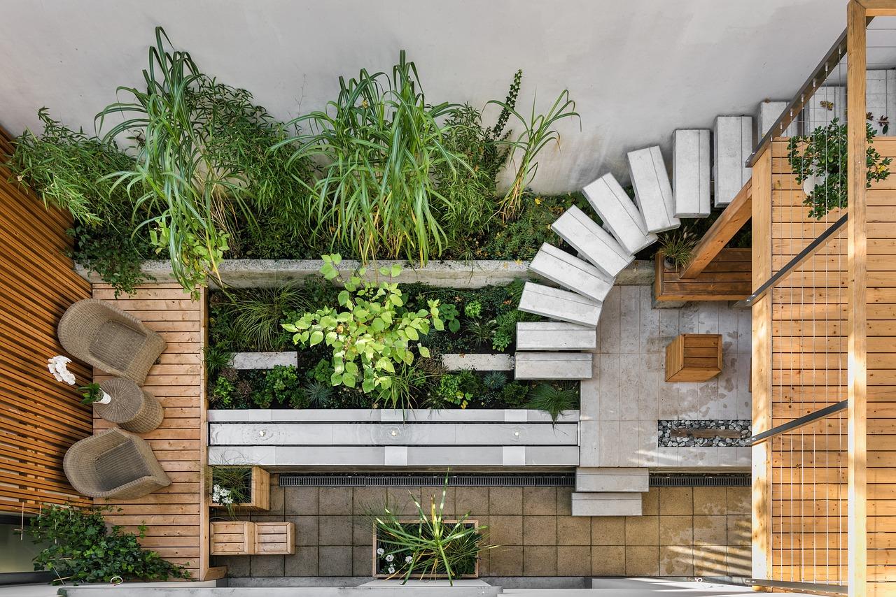 decoración jardín