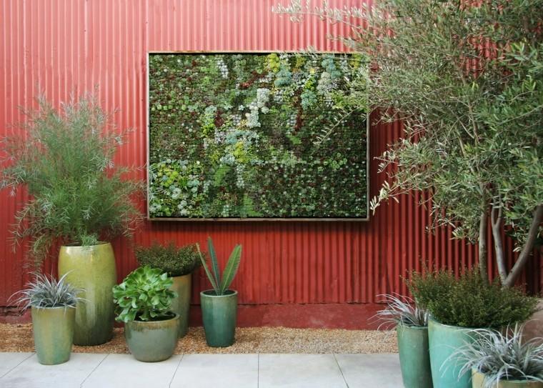suculentas jardin exterior cuadro
