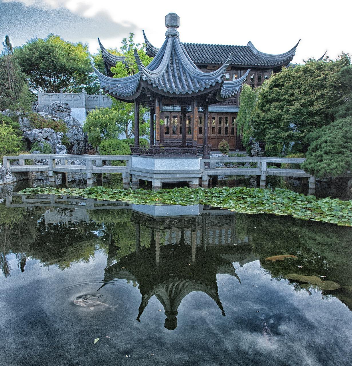 Jardin Chino con agua